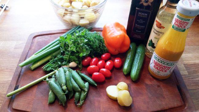 Friske danske grøntsager til kold kartoffelsalat