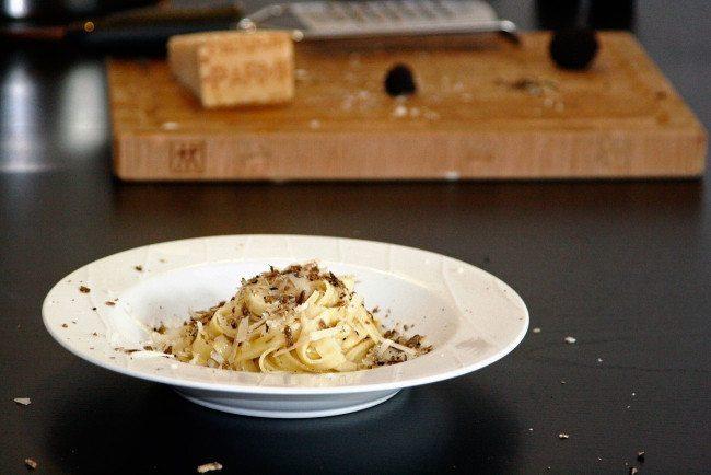 Pasta med trøffel, parmesan og salviesmør