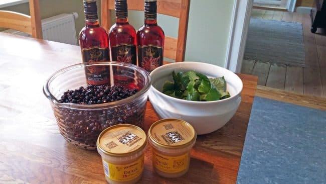 Ingredienser til en masse solbærrom