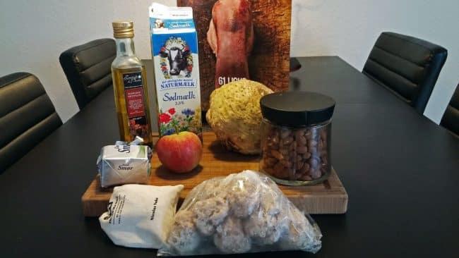 Ingredienser til boller i selleri