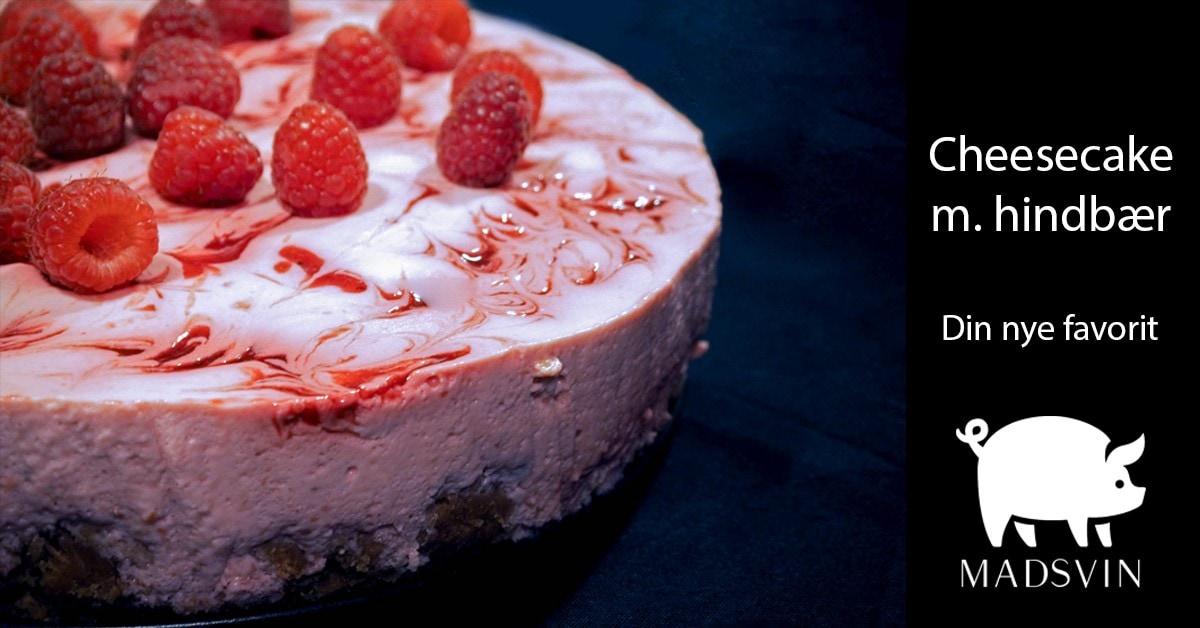 Cheesecake med hindbær - Let og lækker