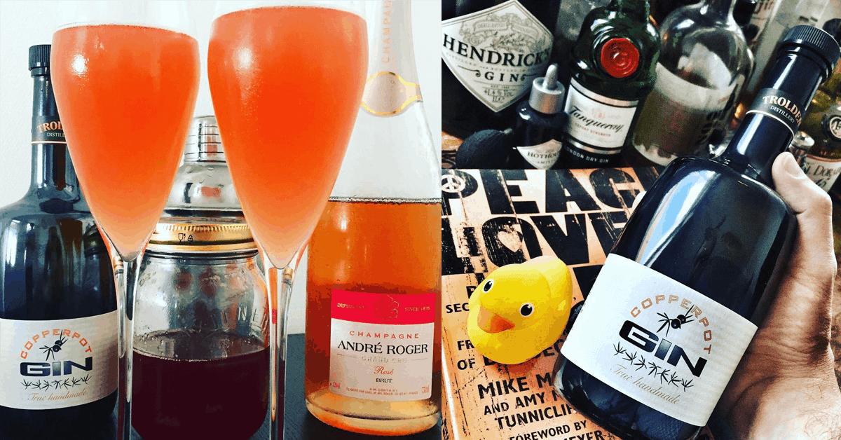 Madsvins French 75: Sommercocktail med Champagne, rabarber og gin