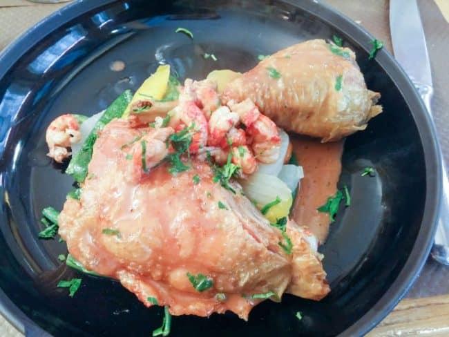 Kylling og dagens grønt