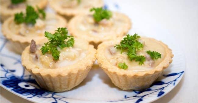 Tarteletter - høns i asparges