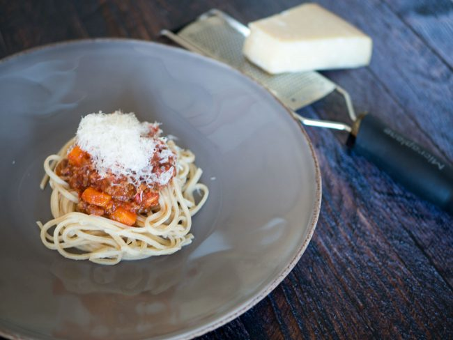 Pasta bolognese - nu med parmesan