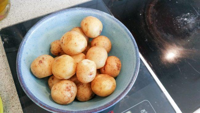 Klargjorte kartofler