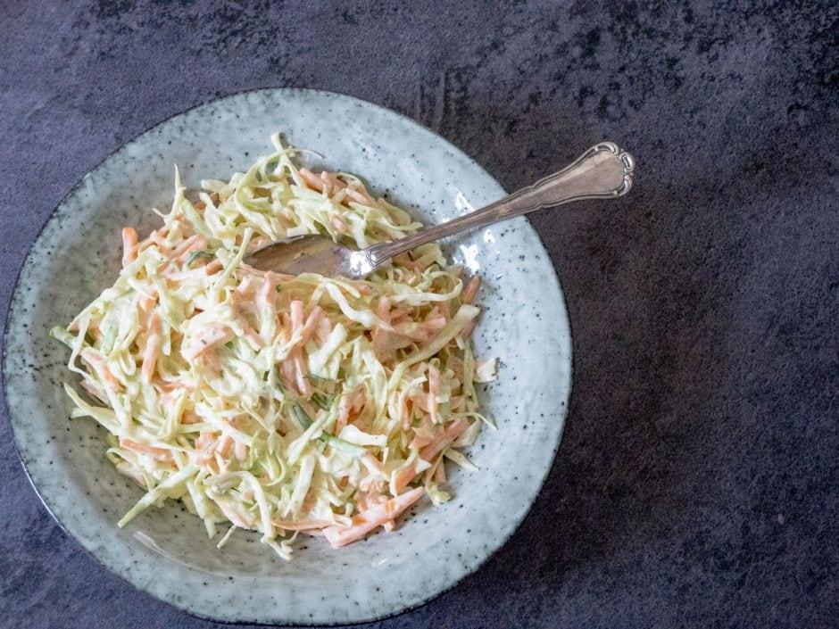 Den færdige coleslaw