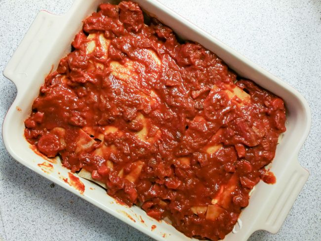 Resten af tomatsaucen