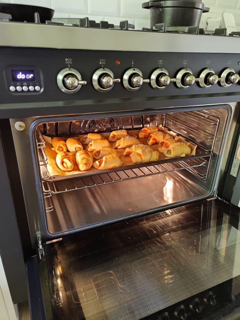 Bag i ovnen i 13-15 minutter ved 200 grader