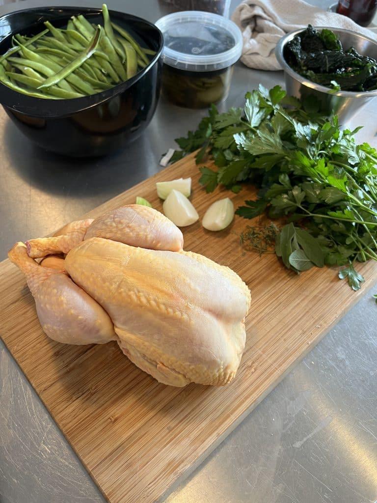 Ingredienser til kyllingen